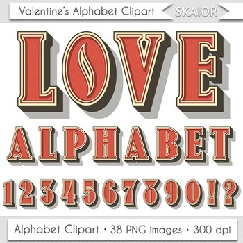 Valentine Day Alphabet Clipart Valentines Alphabet Red Alphabet Numbers Letters