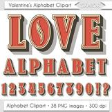 Valentine Day Alphabet Clipart Valentines Alphabet Red Alp