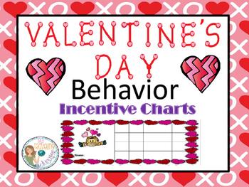 Valentine' Day Behavior Incentive Charts
