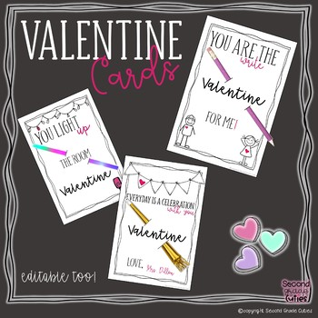 Valentine Day Cards, treat ideas, and banner