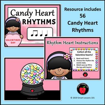 Valentine Day Music Activity: Candy Heart Rhythms: Valentine Music Lesson