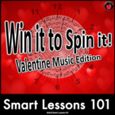 Valentines Day Music Game: WIN It to SPIN It Valentine Music Theory Game