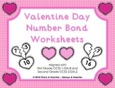 Valentine Day Number Bond Worksheets