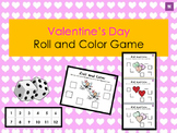 Valentine Day Roll and Color Activity Board