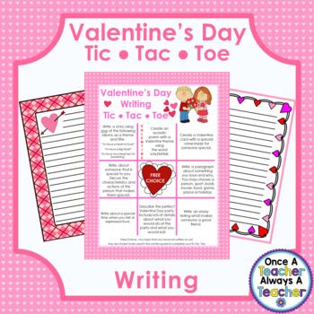 Valentine Day Writing - Tic Tac Toe