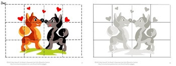 Valentine Day's Cut and Paste Printable Puzzles for Centers/Stations Craftivity