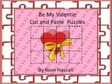 Valentine Day's Cut and Paste Printable Puzzles for Center