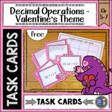 Valentine Decimals Task Cards {free}