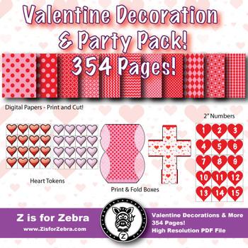 Valentine Decoration / Classroom Theme Mega Pack! 354 Pages!