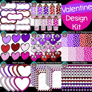 Valentine Design Kit {Scrappin Doodles Clip Art}