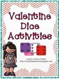 Valentine Dice Activities