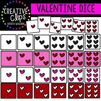 Valentine Dice {Creative Clips Digital Clipart}