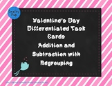 Valentine Differentiated Addition and Subtraction Task Cards