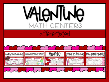 Valentine Differentiated Math Centers