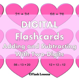 Valentine Digi Flash Cards - 2 Digit Addition and Subtraction