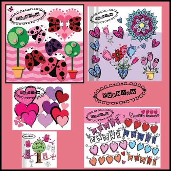 Valentine Digital Clips Bundle ~ PonNwow