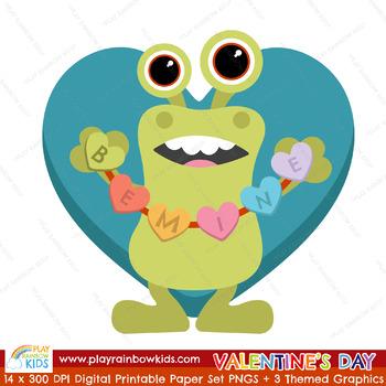 Valentine's Day Digital Paper