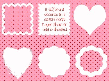 Valentine Digital Paper Pack With Accents~Personal and Commercial Use