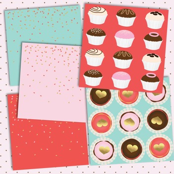 Valentine's Day Digital Papers - My Glitter Valentine