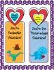 Valentine Dinosaur Bookmarks from Your Teacher