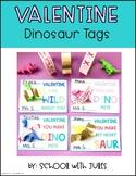 Valentine Dinosaur Tags Freebie