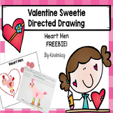 Valentine Directed Drawing Freebie - Heart Hen
