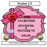 FREE: Valentine Division & Picture (Grades 2-3)