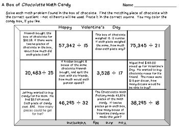 Valentine Division and 2-digit Divisors