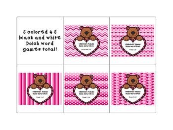 Valentine Dolch Word Games - BUNDLE!