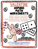 Valentine Domino Math Worksheets! Composing and Decomposing Numbers