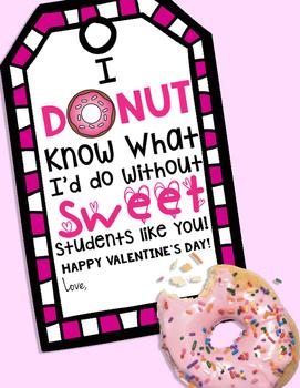 Valentine Donut Favor
