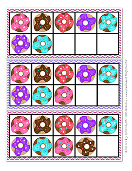 Donut Ten Frames