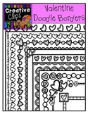 Valentine Clipart Doodle Borders {Creative Clips Clipart}