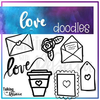 Valentine Doodle Clipart