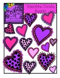 Valentine Doodle Hearts {Creative Clips Digital Clipart}