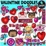 Valentine Doodles Clip Art Bundle {Educlips Clipart}