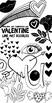 Valentine Doodles Clip Art, Rose, Sweet Lips, Hearts, Digital Stamps + PS Brush
