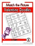 Valentine Doodles - Print, Answer & Color Worksheets - 5 Pages