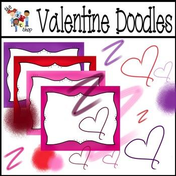 Valentine Doodles and Frames