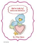 Valentine Double Digit Math