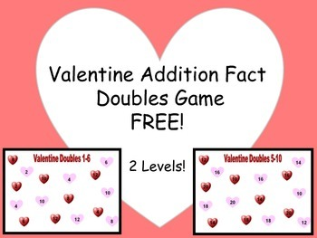 Valentine Doubles (Addition Facts)