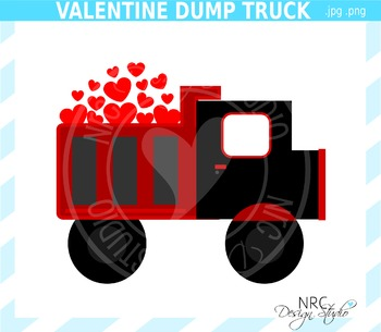Valentine Dump Truck Clip Art - Commercial Use Clipart