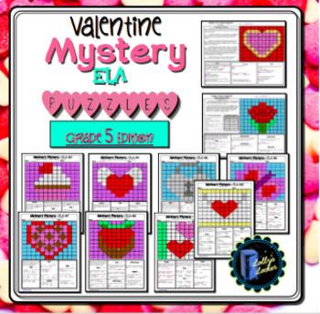 Valentine ELA Mystery Puzzles Grade 5 Edition
