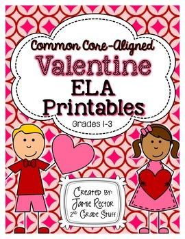 Valentine ELA Printables {Aligned to Common Core Standards}