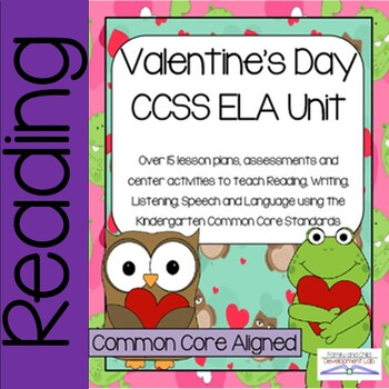 Valentine Reading Activities and Lessons for common core s