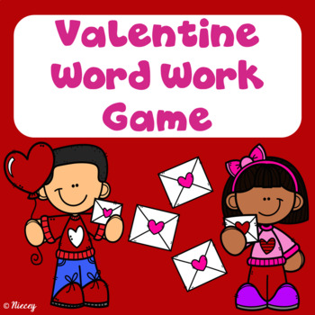 Valentine Word Work Board Game