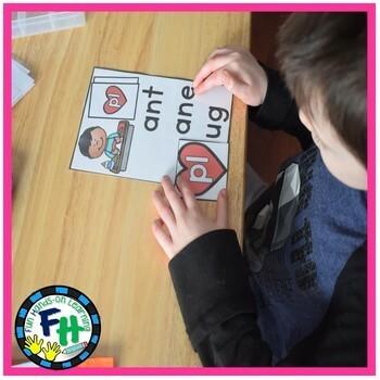 Valentine Kindergarten Math & Literacy Centers