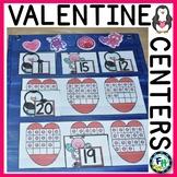 Valentine Kindergarten Math & Literacy Centers BUNDLE
