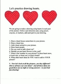 Valentine Easy Art Printable Lesson Plan By Art Action Laurie