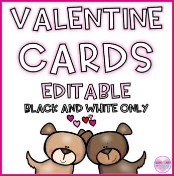 Valentine Editable Cards- Animal Love
